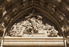 Cathedral of Seville tympanum Stock Photography