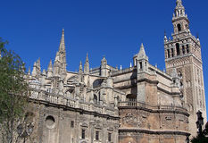 Cathedral of Seville - Wide shot Royalty Free Stock Photography