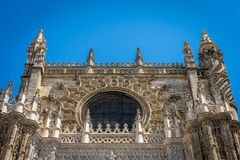 The Cathedral in Seville, the worlds largest gothic cathedral bu. Gothic Cathedral in Seville, the worlds largest gothic cathedral built on the site of a former Royalty Free Stock Images