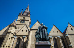 Cathedral in Sibiu Royalty Free Stock Photography
