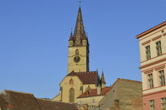 Cathedral Sibiu Stock Photography