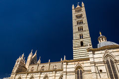 Cathedral in Siena on a blue sky background Royalty Free Stock Photo