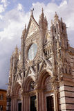 Cathedral Siena facade Stock Images