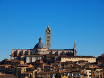 Cathedral in Siena, Italy. Famous italian landmark, photo was taken in February Royalty Free Stock Images