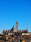 Cathedral in Siena, Italy. Famous italian landmark, photo was taken in February Royalty Free Stock Photography