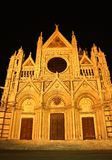 Cathedral in Siena (Italy) at night Royalty Free Stock Images