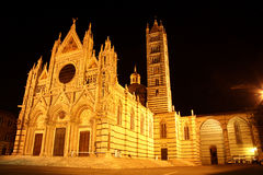 Cathedral in Siena (Italy) at night Stock Photo