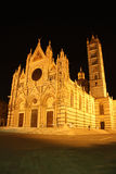 Cathedral in Siena (Italy) at night Stock Photos