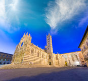 Cathedral of Siena at sunset, Tuscany - Italy Stock Photography