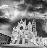 Cathedral of Siena at sunset, Tuscany - Italy Stock Photo
