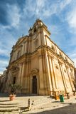 Cathedral in SIlent City of Mdina,Malta.  Royalty Free Stock Photo