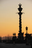 Cathedral. Silhouetted pillory.Porto.Portugal stock images