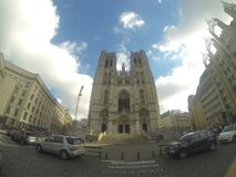 Cathedral of Sint-Michiel and Sint-Goedele stock image