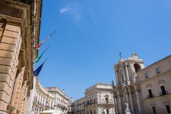 The cathedral of Siracusa. UNESCO World Heritage Site. Royalty Free Stock Photo