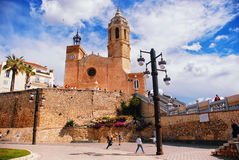 Cathedral of Sitges Stock Images