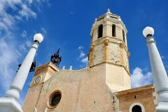 Cathedral of Sitges, Spain Stock Photo