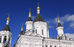 Cathedral and sky. Orthodox cathedral and sky at spring Royalty Free Stock Photography