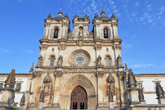 The cathedral in the small city of Alkobasa. Catholic monastery and cathedral in the small city of Alkobasa. Portugal Stock Photos
