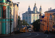 Cathedral in Smolensk in the early morning. Stock Photo