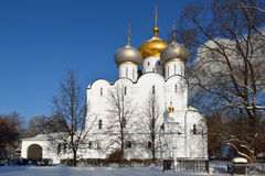 Cathedral of Smolensk Icon of Our Lady of Novodevichy Convent Royalty Free Stock Photography