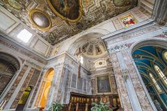 The cathedral of Sorrento campania, Italy Royalty Free Stock Images