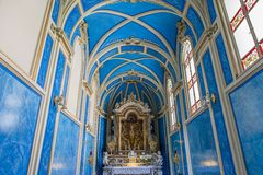 The cathedral of Sorrento campania, Italy. Interiors and details of the cathedral of Sorrento, near Naples, camapnia, Italy Stock Photography