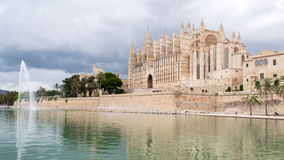 A Cathedral in Spain. This is the cathedral from Palma de Mallorca Stock Images