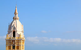Cathedral in the Spanish colonial city of Cartagena, Colombia. Cathedral of Saint Catherine of Alexandria in the Spanish colonial city of Cartagena, Colombia royalty free stock photography
