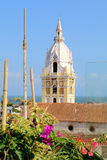 Cathedral in the Spanish colonial city of Cartagena, Colombia Stock Images