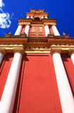 Cathedral spire. Spire of a cathedreal in Salta, Argentina, taken from low angle close up to emphasise the height Royalty Free Stock Image