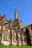 Cathedral spire, Lichfield, England. Royalty Free Stock Image