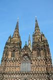Cathedral Spires, Lichfield. Royalty Free Stock Photography