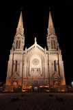 Cathedral with spires at night Royalty Free Stock Image