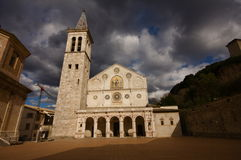 Cathedral of Spoleto royalty free stock images