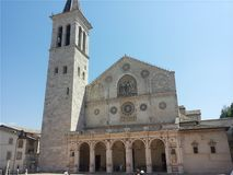 Cathedral of Spoleto stock image