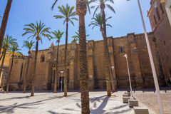 Cathedral Square in Almeria, Spain Royalty Free Stock Photos