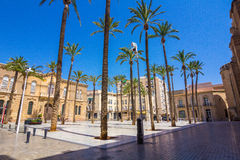 Cathedral Square in Almeria, Spain Royalty Free Stock Photography