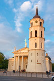 Cathedral Square and bell tower at  sundown light Royalty Free Stock Photos