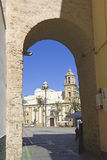 Cathedral Square, Cadiz Stock Images