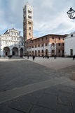 The cathedral square and the cathedral st. martin lucca tuscany Italy europe Stock Images