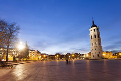 The Cathedral Square in central Vilnius Stock Photography