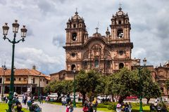 Cathedral Square in the Cuzco, Peru Stock Image