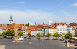 Cathedral square with Erthal Obelisk in Erfurt, Thuringia Stock Photo