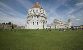 The cathedral square or even miracles pisa tuscany italy europe Stock Images