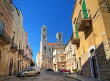 Cathedral Square. Giovinazzo. Apulia. Royalty Free Stock Photography