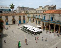 Cathedral Square in Havana Royalty Free Stock Photo