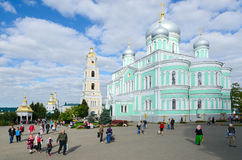Cathedral Square in Holy Trinity Seraphim-Diveevo monastery, Div Royalty Free Stock Photos