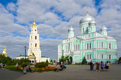 Cathedral Square in Holy Trinity Seraphim-Diveevo monastery Stock Photography