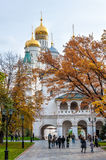 Cathedral Square in the Kremlin, Moscow, Russia. landmark Stock Images