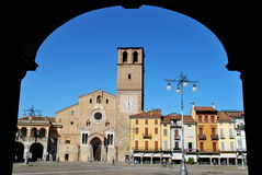 Cathedral and square in Lodi, Italy Stock Images